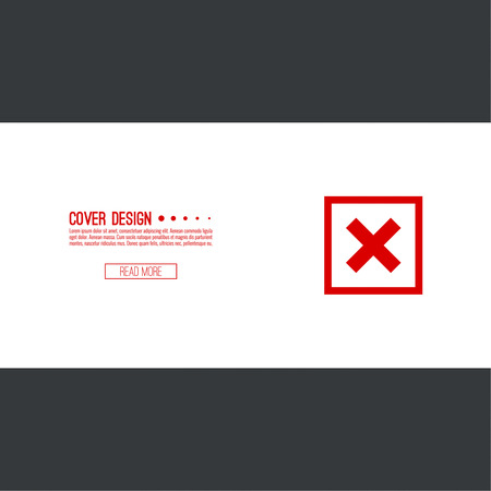 rejection: Set of vector buttons with check marks, ticks, x. checkbox. Web and mobile applications. rejection and form of access denial, refusing. red. template, layout