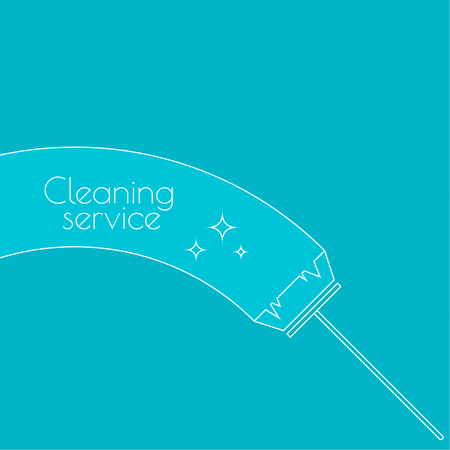 wet cleaning: Vector icon brush for cleaning brooms. Linear icon. Thin line. The concept of home cleaning and cleanliness. The symbol of house cleaning.  outline icon. Brush for sweeping debris. cleaning service Illustration