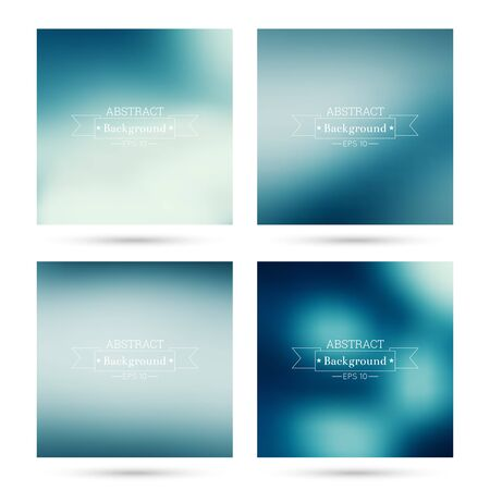 fondos violeta: Set of vector colorful abstract backgrounds blurred. For mobile app, book cover, booklet, background, poster,  backdrop, wallpaper, annual reports purple blue violet