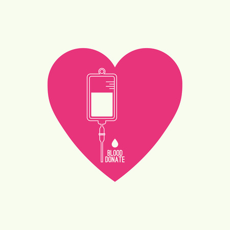 needy: Abstract background with blood bag. Icon donation  with heart. Vector image help the sick and needy. dropper with drop.