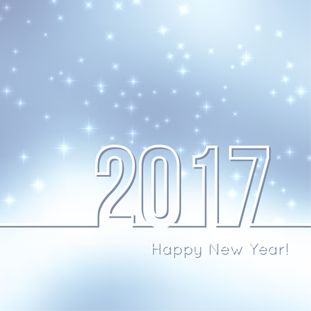 glint: Abstract blurred vector background with sparkle stars. Happy New Year 2017. For decorations festivals, xmas, glamour holiday, illuminated, celebration