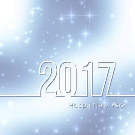 highlight: Abstract blurred vector background with sparkle stars. Happy New Year 2017. For decorations festivals, xmas, glamour holiday, illuminated, celebration