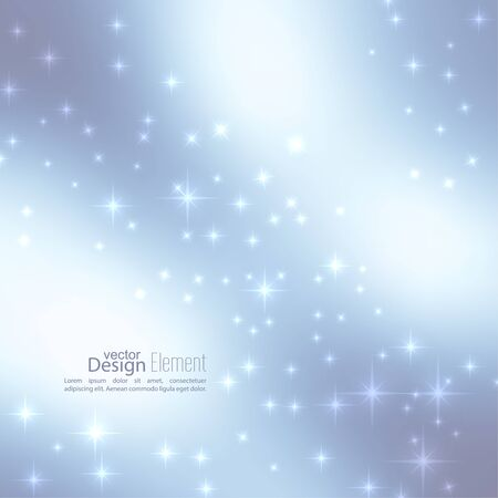 Abstract blurred vector subtle background with  glare sparkle stars. For decorations for Merry Christmas, New Year, festivals, birthday, xmas, glamour holiday, illuminated, celebration Illustration