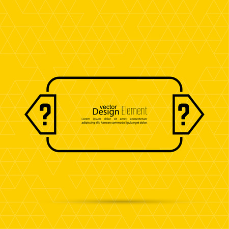 help symbol: Question mark blank template. Help symbol. FAQ sign icon. Empty vector form.  information, text box, textbox on yellow background. Speech Bubbles.