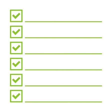 todo: To do list. Lines with check boxes. checklist for note. consent. checkmark. election and voting. yes mark. Todo tick. Vector. Checkbox