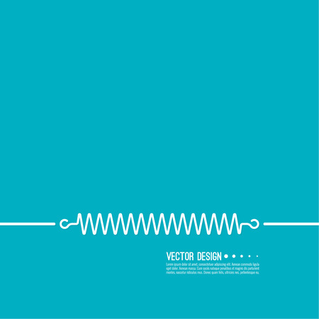 Set coil spring vector icon. Induction spiral electrical symbol. Illustration