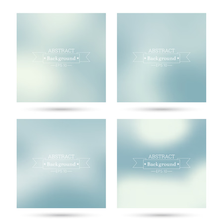 Set of vector colorful abstract backgrounds blurred. For mobile app, book cover, booklet, background, poster,  backdrop, wallpaper, annual reports delicate subtle gentle Illustration