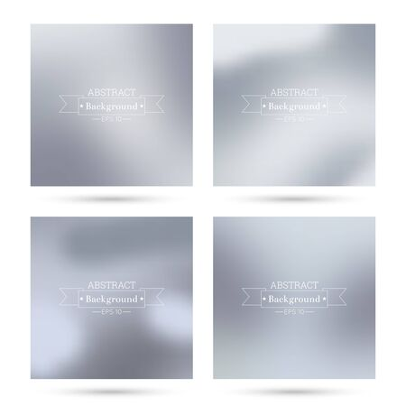 poster backgrounds: Set of vector colorful abstract backgrounds blurred. For mobile app, book cover, booklet, background, poster,  backdrop, wallpaper, annual reports delicate subtle gentle Illustration