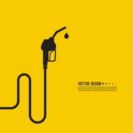 filling station: Gasoline pump nozzle sign. Gas station icon. Fuel pump petrol station. drop of gasoline.  refuel service. Vector illustration