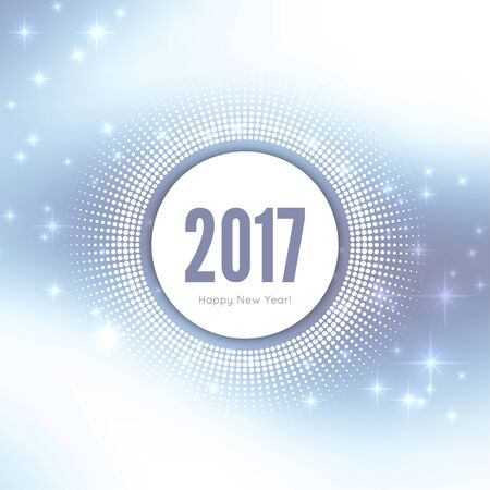 star background: Abstract blurred vector background with sparkle stars. Happy New Year 2017 theme. For decorations festivals, xmas, glamour holiday, illuminated, celebration.  Round banner with rays.
