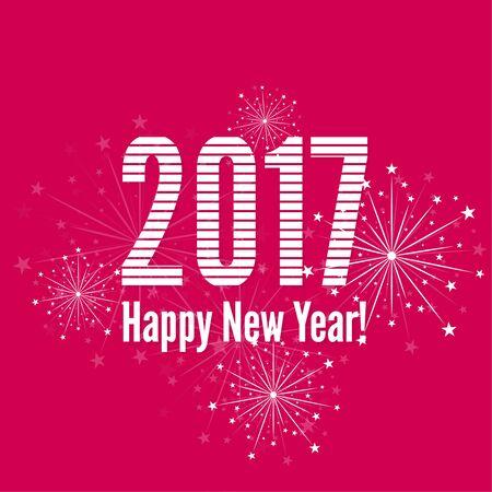 year: creative happy new year 2017 Illustration