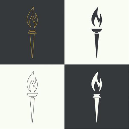 Vector icône de la torche.