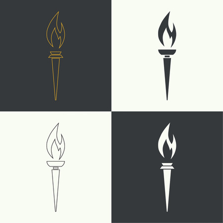 Vector icon of torch.