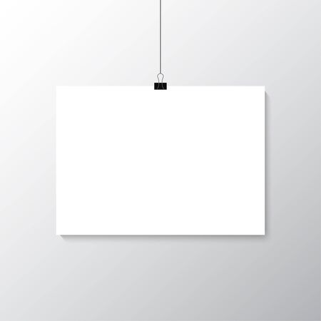 white poster: Grey wall with mock up