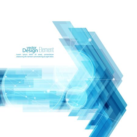 techno: Abstract background with blue stripes Illustration