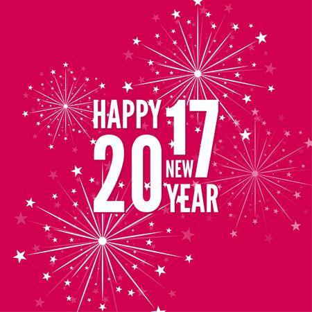creative happy new year 2017 Illustration