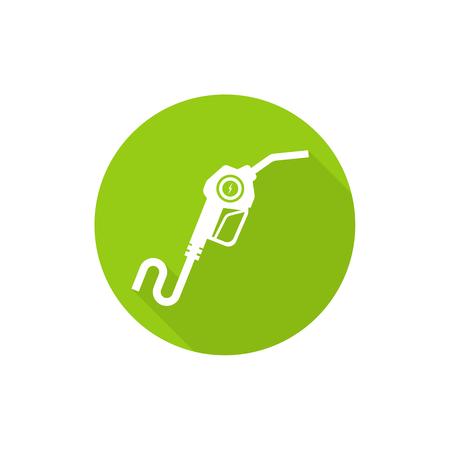filling station: Gasoline pump nozzle sign Illustration