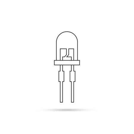 light emitting diode: light-emitting diode. vector
