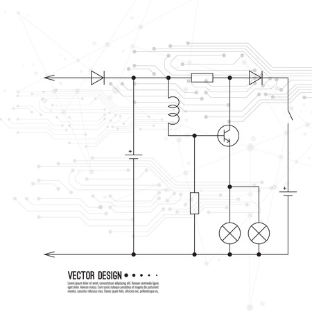 Vector electronic motherboard.