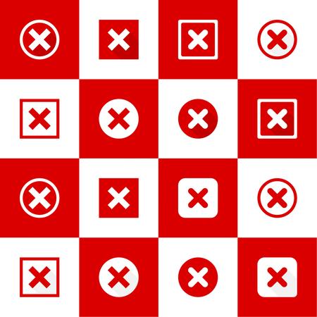 denial: Set of vector buttons Illustration