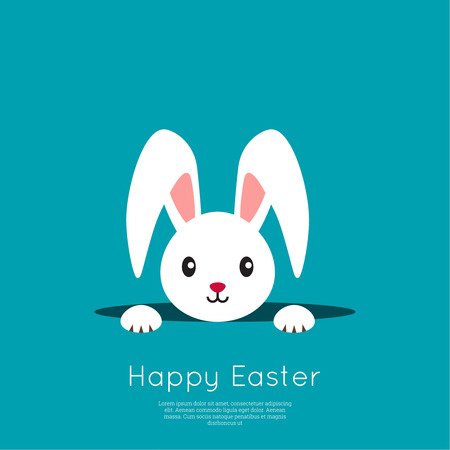 Easter Bunny in hole Illustration
