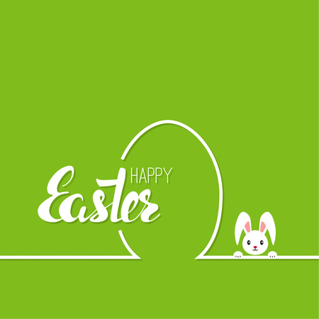 Happy easter cards. illustration