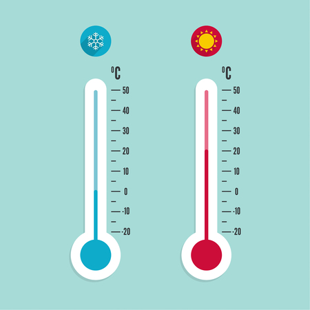 meteorology thermometer with celsius fahrenheit royalty free