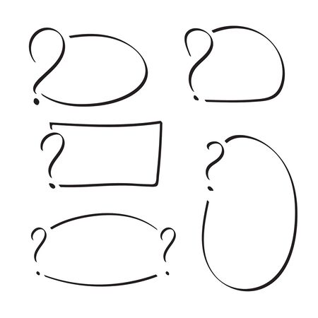 questionably: Set of vector question mark Illustration