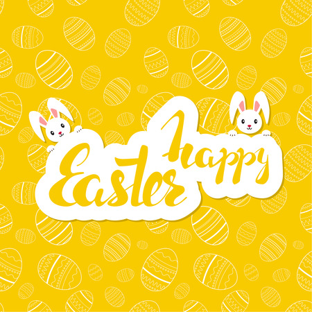 Easter seamless pattern illustration.