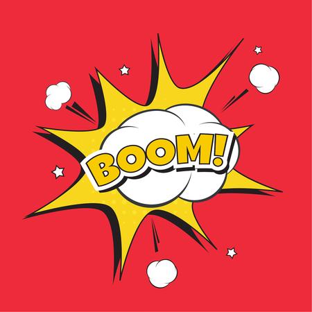 Lettering Boom, bomb.