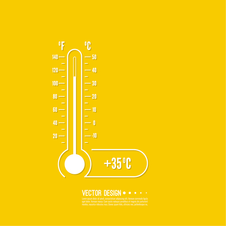 coldness: Meteorology thermometer with Celsius, Fahrenheit.