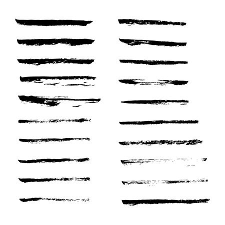 jagged: Set of hand drawn smears. Illustration
