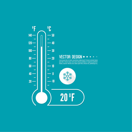 fahrenheit: Meteorology thermometer with Celsius, Fahrenheit