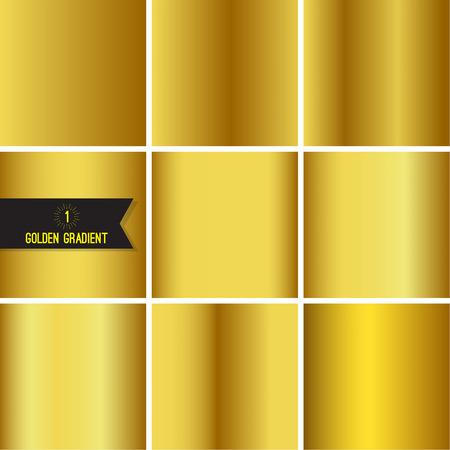 Ensemble de texture en feuille d'or.