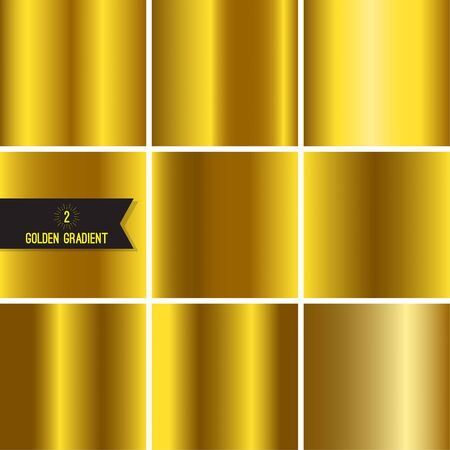 Set of gold foil texture.