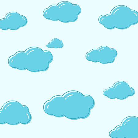 雲のベクトルのアイコン。