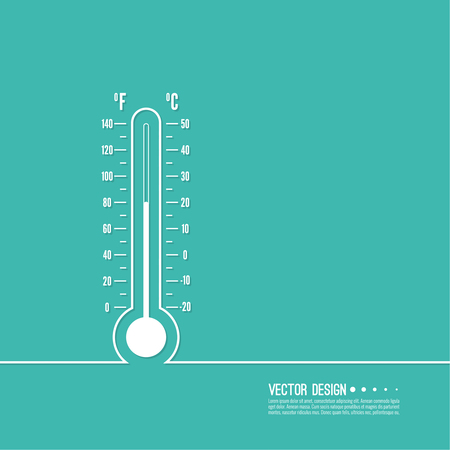 meteorology thermometer with Celsius, Fahrenheit Illustration