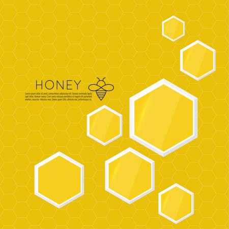 Vector icon honeycomb.