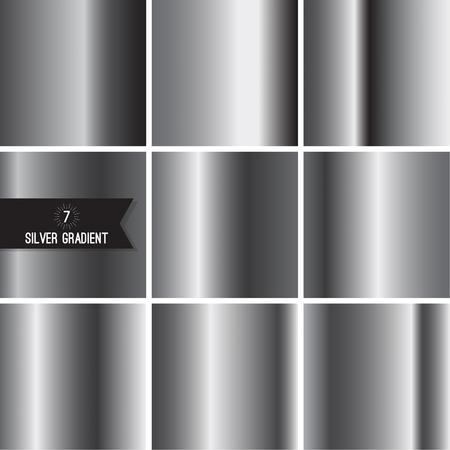 aluminum foil: Set of silver foil texture Illustration