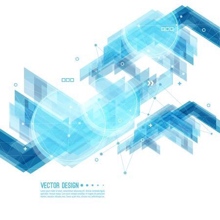 Abstract background with blue stripes Illustration