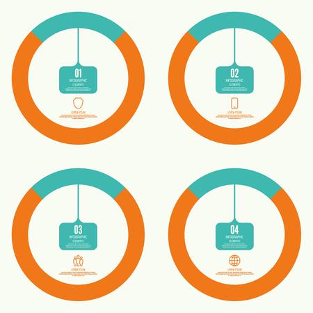Comparative chart with banner Ilustração