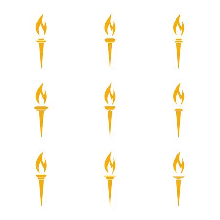 Vettore icona della torcia. Archivio Fotografico - 80109976