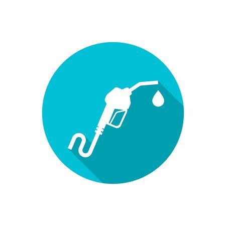 Gasoline pump nozzle sign.
