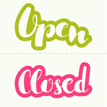 open type font: Closed inscription vector