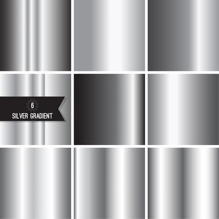 Set of silver foil texture Illustration