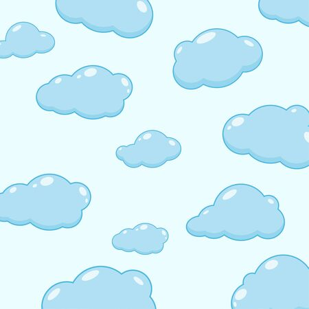 Cloud vector icons.