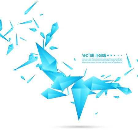 Abstract background with dynamic fragments.