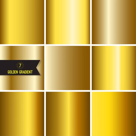 steel plate: Set of gold foil texture.