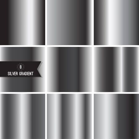 steel industry: Set of silver foil texture Illustration