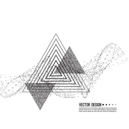 Abstract techno illustration